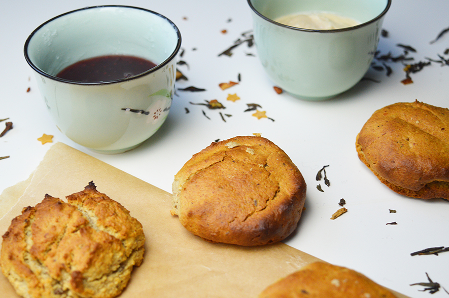 Glutenvrije & vegan scones met clotted cream