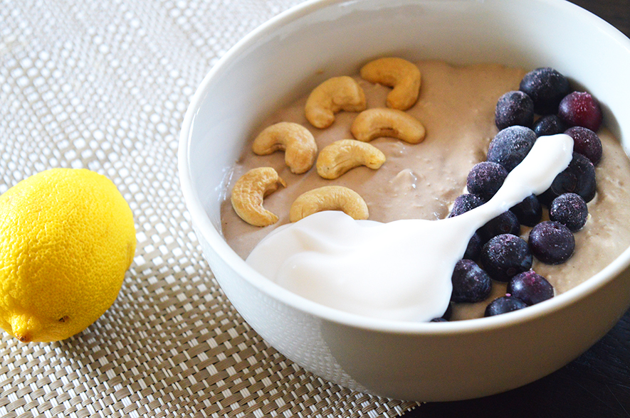 lemon cheesecake smoothiebowl
