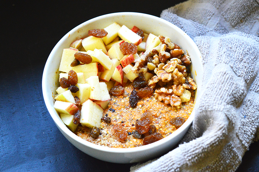 quinoa worteltjestaart porridge 2