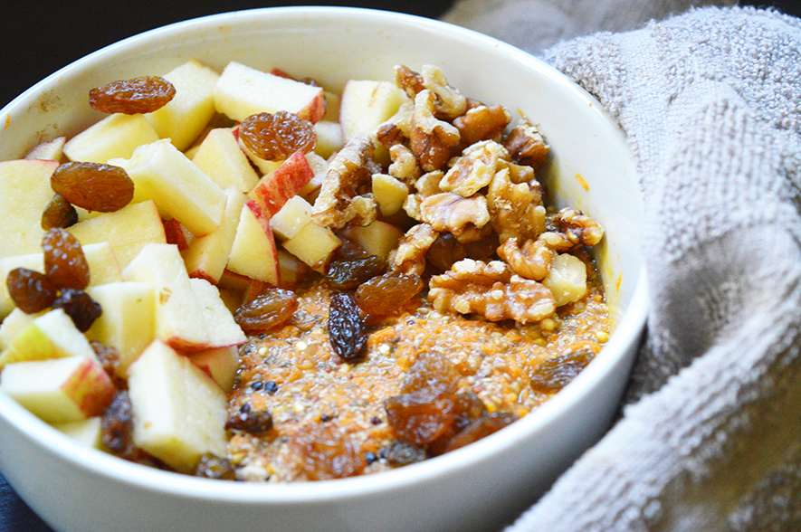 quinoa worteltjestaart porridge 3