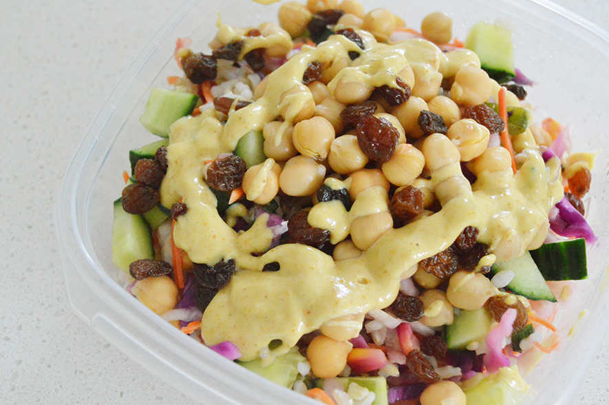 chickpea curry salad