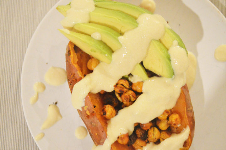 smoky stuffed sweet potato